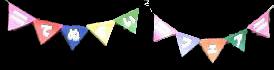 戸田書店さんの旗(万国旗をイメージ)