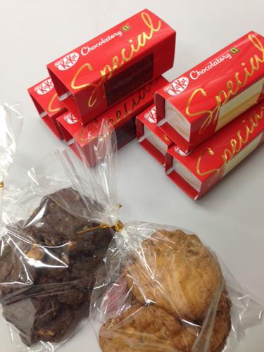 凹山人奥様の手作りクッキーとピロイチョコ