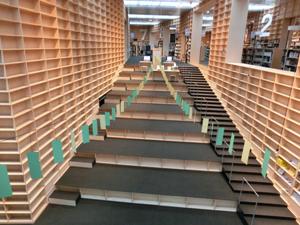 大階段の初日の短冊と短冊の箱など