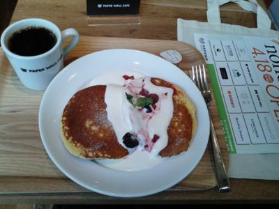 パンケーキとコーヒー合計1050円