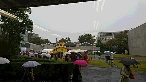 2017年10月29日午後、武蔵野美術大学中央広場あたり