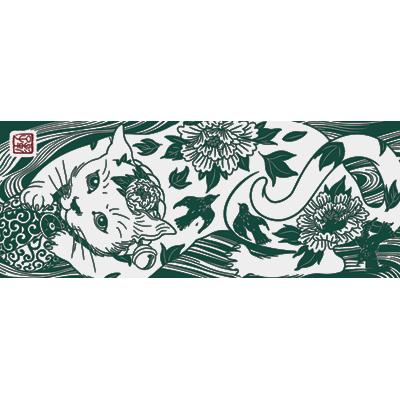 花鳥猫 深緑 [遠藤彰子]