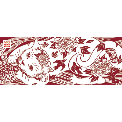 花鳥猫 唐紅 [遠藤彰子]